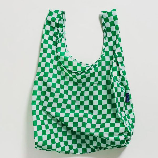 Standard Baggu, Green Checkerboard