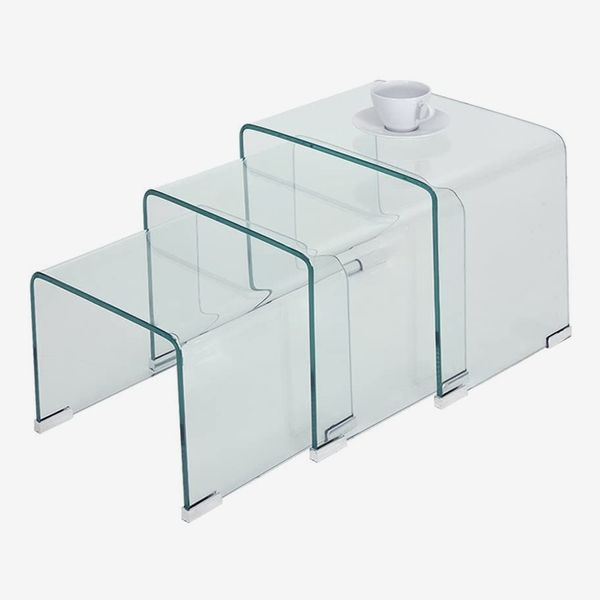 Bent Glass Nest Tables