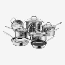 Cuisinart Professional Series 11-Piece Stainless Steel Non-Stick Cookware Set