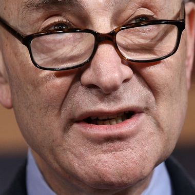 Sen. Charles Schumer (D-NY) speaks about the possibility of a payroll tax cut extension during a press conference at the U.S. Capitol February 16, 2012 in Washington, DC. Senate Republicans and Democrats are nearing compromise on a legislative package that would extend the payroll tax cut beyond its expiration at the end of February and are likely to vote on the agreement tomorrow.  WASHINGTON, DC - FEBRUARY 16:  Sen. Charles Schumer (D-NY) speaks about the possibility of a payroll tax cut extension during a press conference at the U.S. Capitol February 16, 2012 in Washington, DC. Senate Republicans and Democrats are nearing compromise on a legislative package that would extend the payroll tax cut beyond its expiration at the end of February and are likely to vote on the agreement tomorrow.  (Photo by Win McNamee/Getty Images)