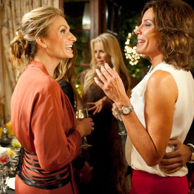THE REAL HOUSEWIVES OF NEW YORK CITY -- Episode 501 -- Pictured: (l-r) Heather Thomson, LuAnn de Lesseps.