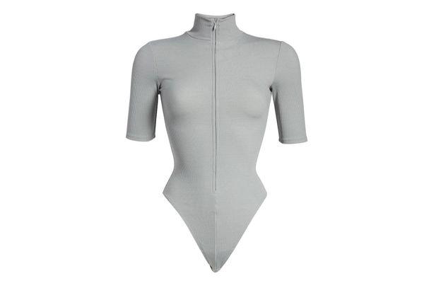 Good American Mock Neck Zip Bodysuit