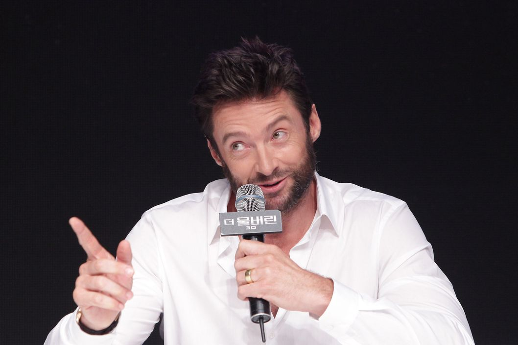"SEOUL, SOUTH KOREA - JULY 15:  Actor Hugh Jackman attends during ""The Wolverine"" press conference at Hyatt Hotel on July 15, 2013 in Seoul, South Korea.  (Photo by Chung Sung-Jun/Getty Images)"