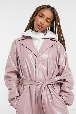 Rains Holographic Waterproof Overcoat in Pink