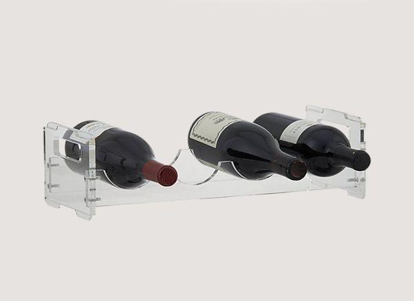 CB2 Clear Wine Rack