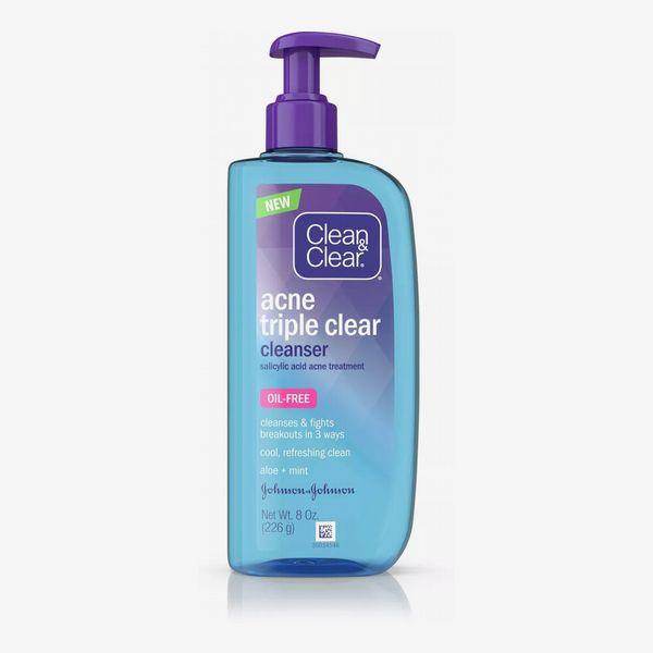 Clean & Clear Acne Triple Clear Facial Cleanser