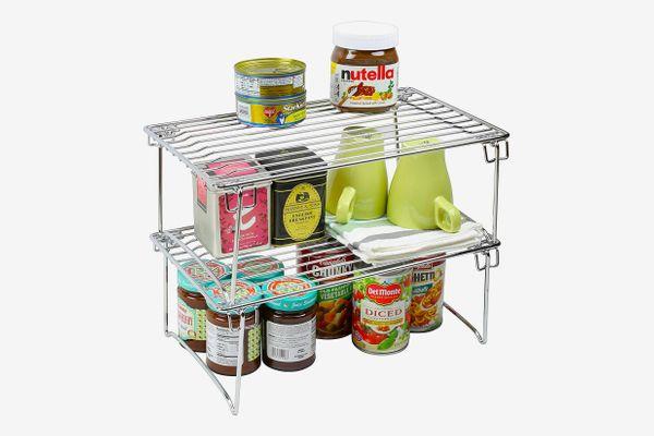 DecoBros Stackable Kitchen Cabinet Organizer (2-Pack)