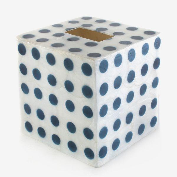 MacKenzie-Childs Royal Dot Boutique Tissue Box Cover