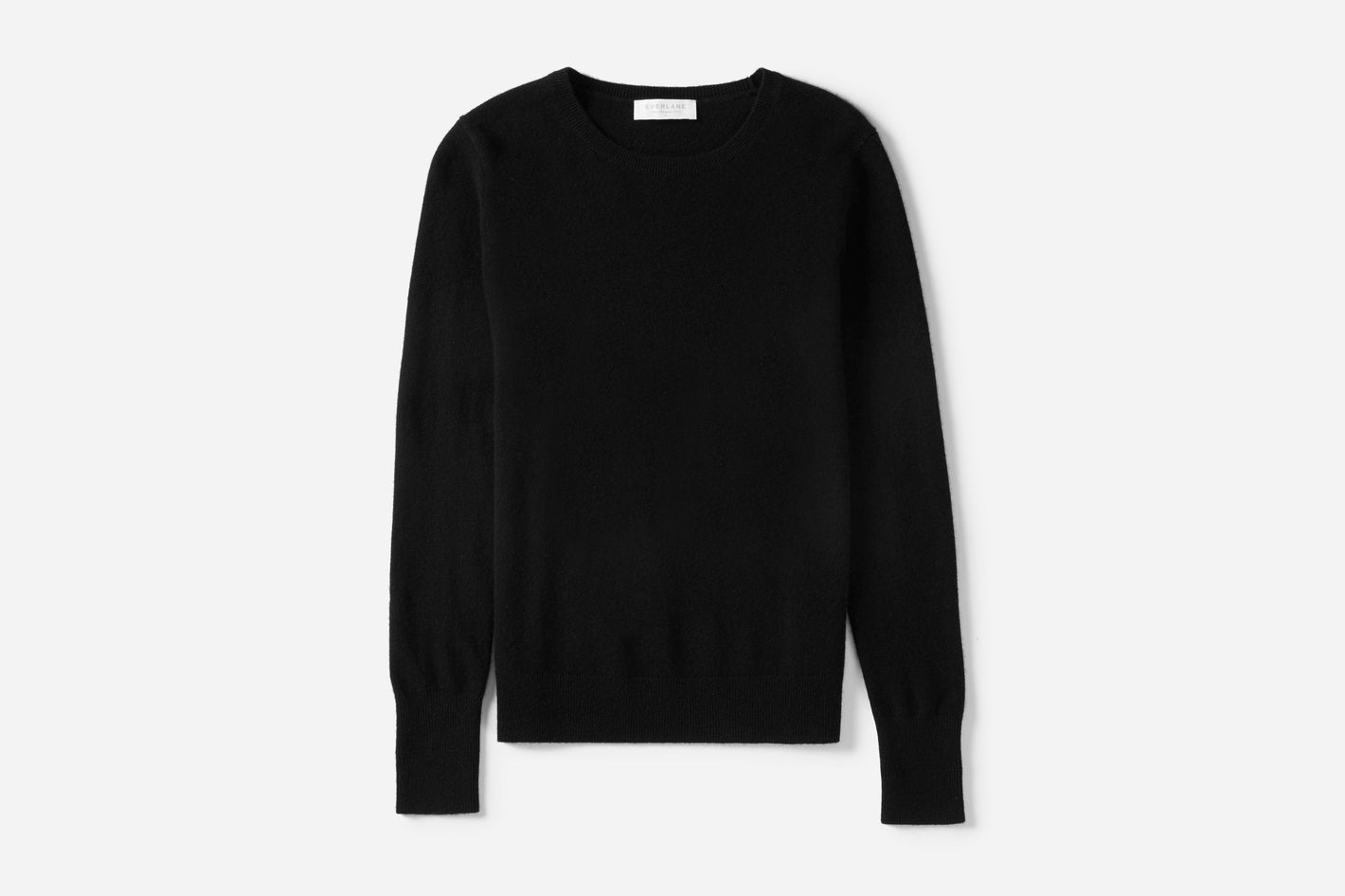 Cashmere Crew in Black