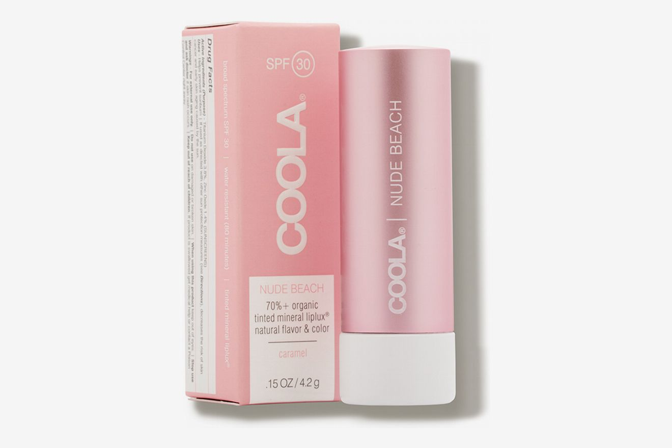 COOLA Mineral Liplux Nude Beach with SPF 30