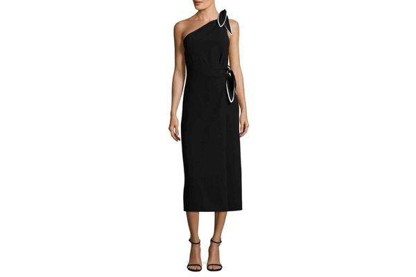 Diane von Furstenberg One-Shoulder Scarf Dress