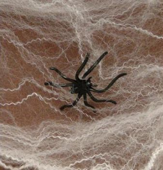 Fun Express Halloween Spider Webs Spiderwebs With Plastic Spiders, 12 Packs