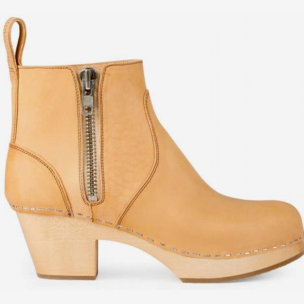 Zip It Emy in Nature - strategist best zip it high heel leather boot natural brown