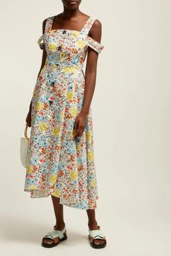 isa arfen floral cotton dress - strategist fashion summer sale