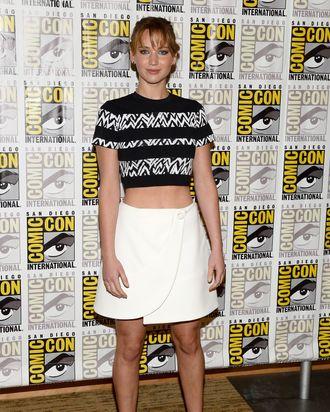 SAN DIEGO, CA - JULY 20: Actress Jennifer Lawrence attends Lionsgate's