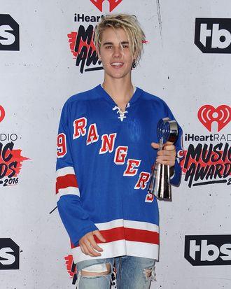 Justin, before the hair cut.