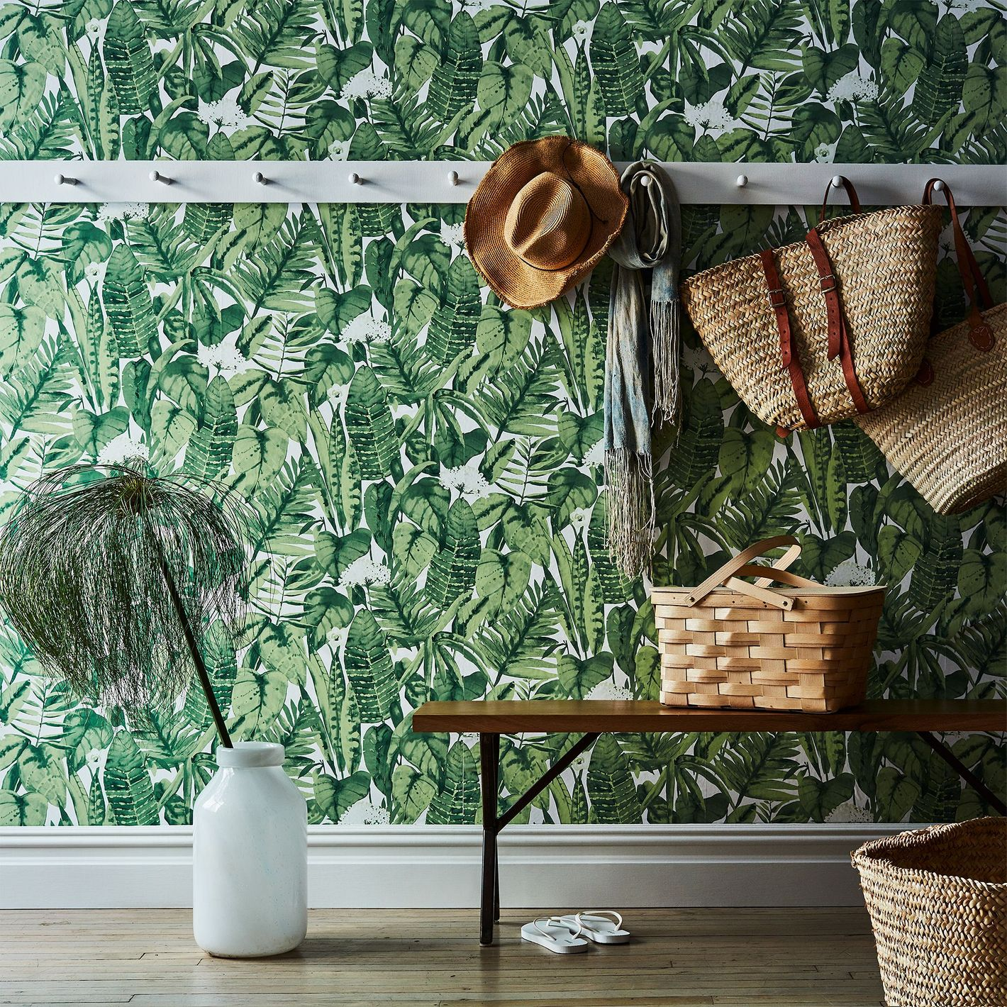 Tempaper Self Adhesive Wallpaper Tropical Jungle