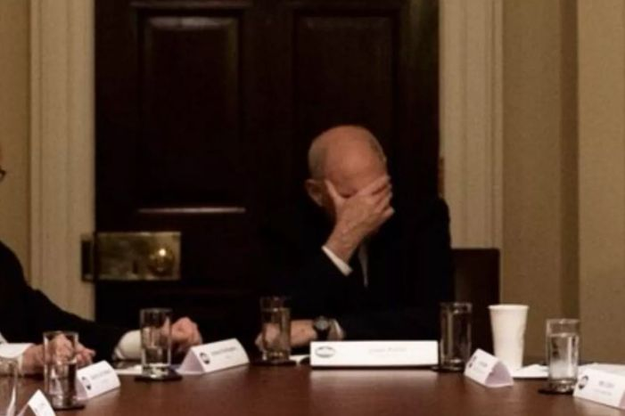 John Kelly, with face-palm.