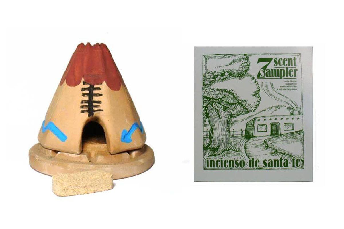 Teepee Burner with Pinon Natural Wood Incense — Incienso De Santa Fe