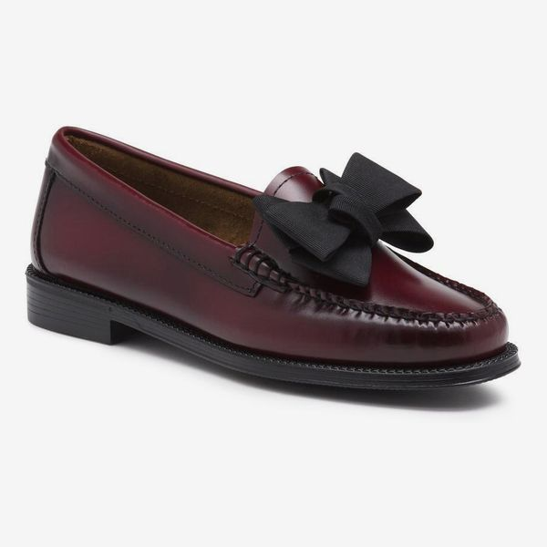 G.H. Bass & Co. Jillian Bow Loafer With Rubber Sole