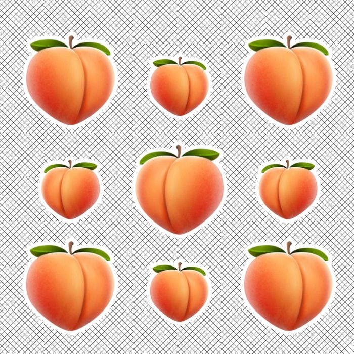 Peach emoji for Butt-Con.