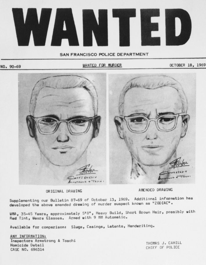 Sketches of the Zodiac Killer.