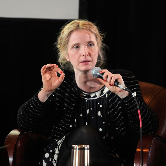 PARK CITY, UT - JANUARY 25:  Actress Julie Delpy attends the TimesTalk at Cinema Cafe 6 with Julie Delpy and Parker Posey during the 2012 Sundance Film Festival held at Filmmaker Lodge on January 25, 2012 in Park City, Utah.  (Photo by Jemal Countess/Getty Images)
