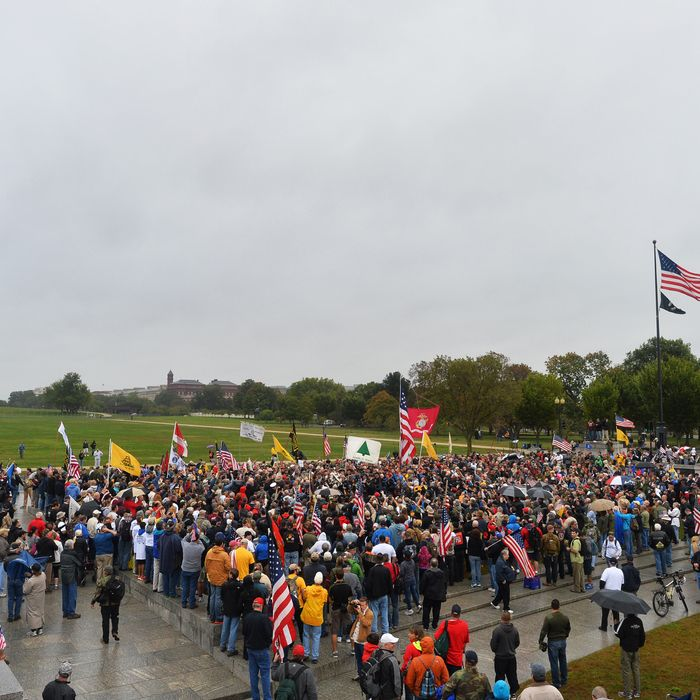Protesters take part in a demonstration at the World War II memorial in Washington, DC on October 13, 2013 demanding for an end of US federal government shutdown. While US politicians grapple with how to reopen their shuttered government and avoid a potentially disastrous default on their debt, the world should consider 'de-Americanising', a commentary on China's official news agency said Sunday.