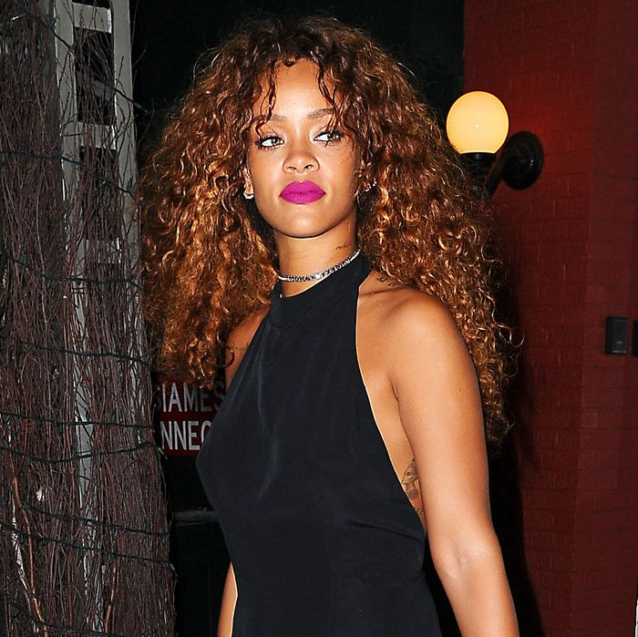 Rihanna, out on the town this week.