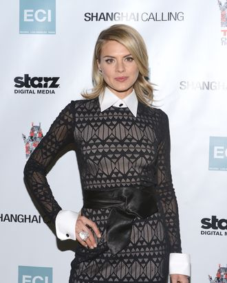 HOLLYWOOD, CA - FEBRUARY 12: Eliza Coupe attends the