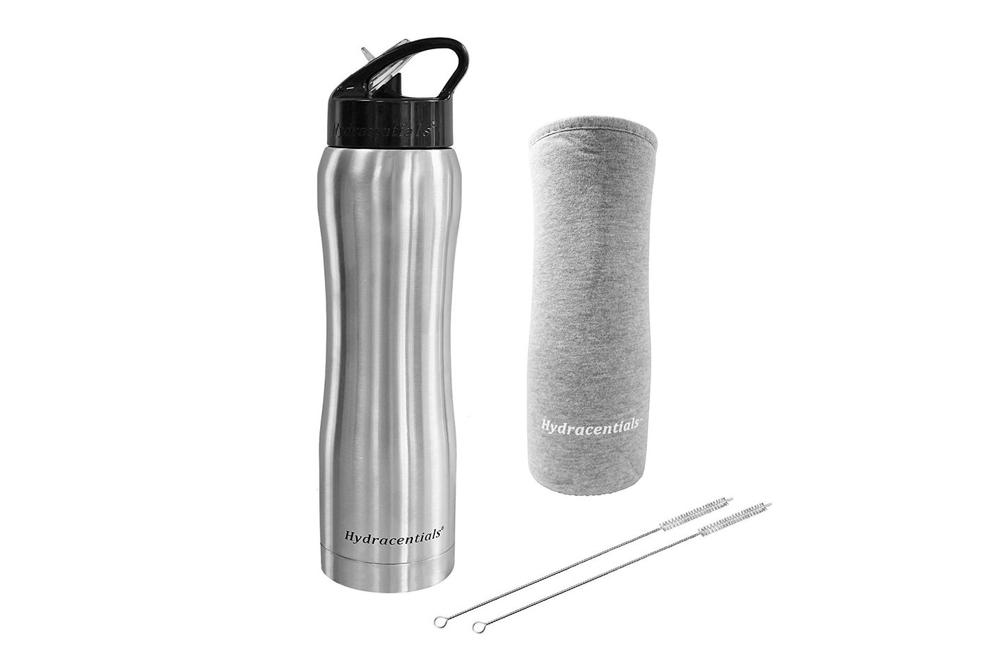 Hydracentials Stainless Vacuum Insulated Water Bottle with Straw