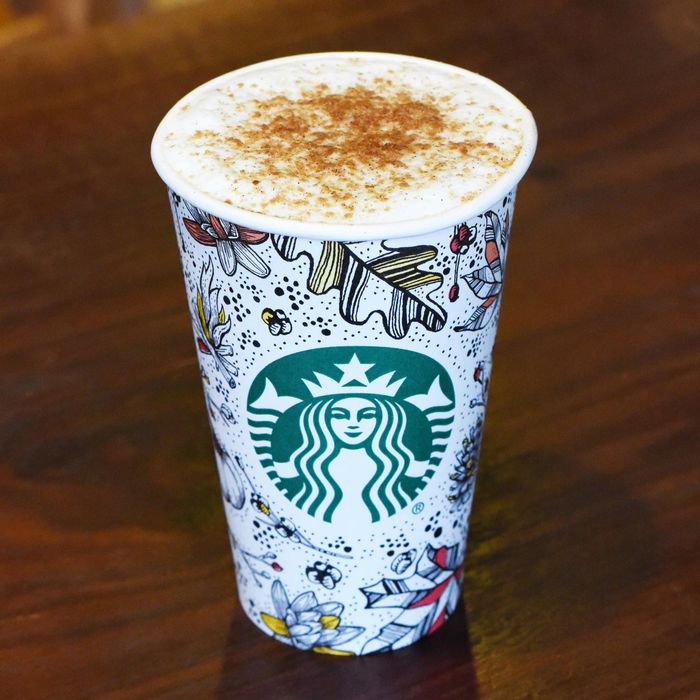 The drink debuts in Starbucks' new fall-themed cups.