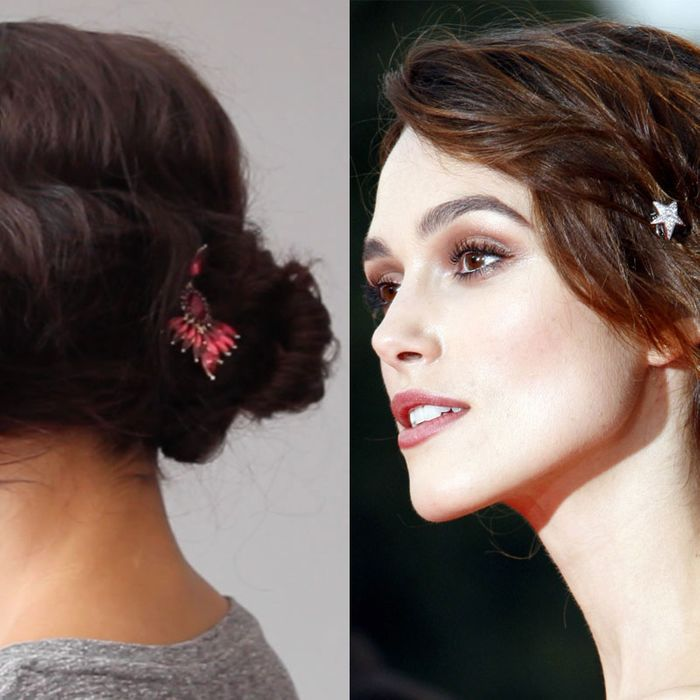 Beauty Gifs How To Get Keira Knightleys Romantic Stars In Eyes Updo