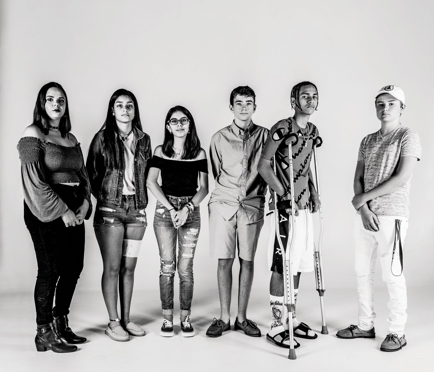 School-Shooting Survivors Bear Their Scars, and Bear Witness