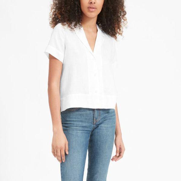 Everlane Linen Notch Short-Sleeve Shirt