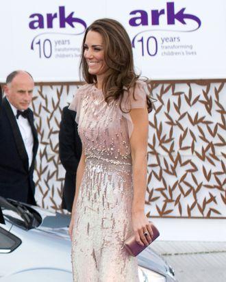 Kate, not wearing Nicholas Kirkwood shoes.