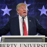Donald Trump Delivers Convocation At Liberty University