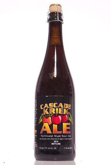 "Cascade Brewing (Oregon)<br>$15.75 for 25 oz. <br><strong>Type:</strong> Fruit Beer<br><strong>Tasting notes:</strong> ""A whole Bing-and-sour-cherry-pie taste—pretty awesome."" <br>—Hilton Ariel Ruiz, co-owner, New Beer Distributors<br> <br>"
