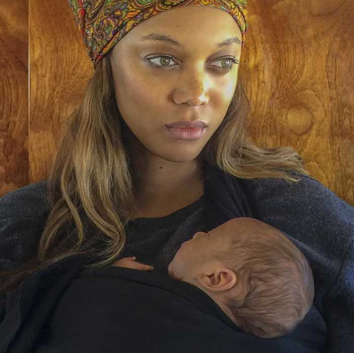 Mother and (the profile of) son. Tyra Banks/Instagram