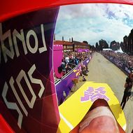 Britain's gold medalist Bradley Wiggins prepares to start competing in the London 2012 Olympic Games men's individual time trial road cycling event in London on August 1, 2012.