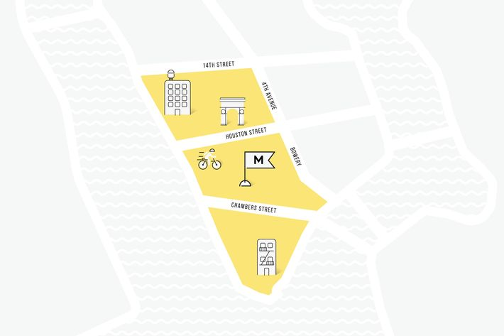 The expanded delivery area.