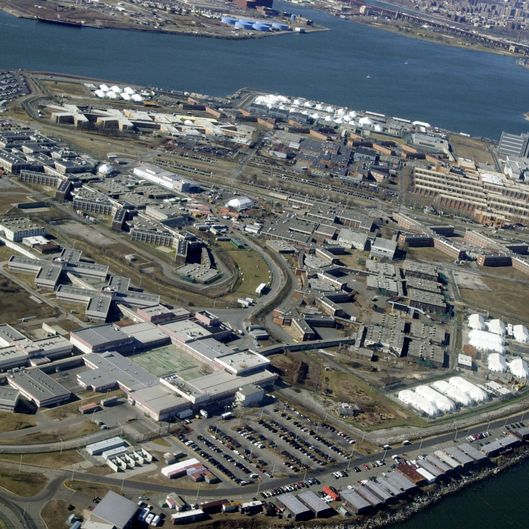 UNITED STATES - FEBRUARY 13:  Aerial view of Rikers Island.