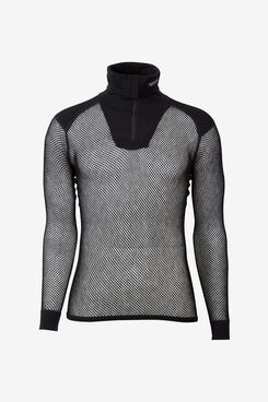 Brynje Unisex Wool Thermo Zip Polo Base Layer with Inlay