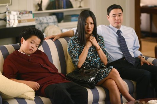 "FRESH OFF THE BOAT - ""Phillip Goldstein"" - Eddie tries to befriend the only other Chinese kid in school (guest star Albert Tsai, ""Trophy Wife""), but he's in for a letdown after he finds out that they have nothing in common; Louis feels betrayed when Mitch (Paul Scheer) accepts a job at the rival Golden Saddle, on ""Fresh Off the Boat,"" TUESDAY, MARCH 10 (8:00-8:30 p.m. ET) on the ABC Television Network. (ABC/Michael Ansell)HUDSON YANG, CONSTANCE WU, RANDALL PARK"