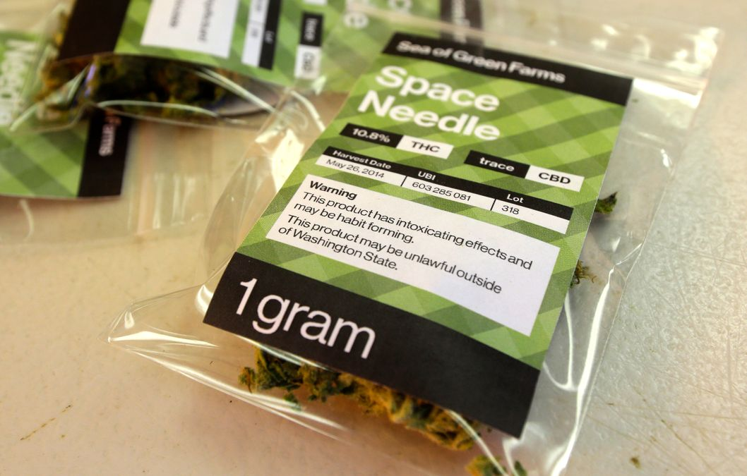 July 1 2014 a one gram packet of a variety of recreational marijuana