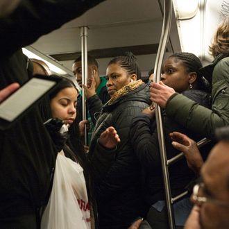 Rush Hour On New York's Subway