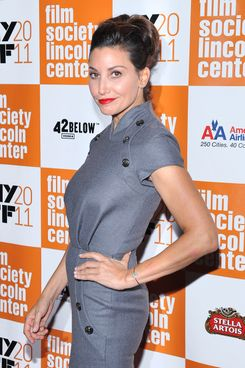"""NEW YORK, NY - OCTOBER 09:  Actress Gina Gershon attends the 49th annual New York Film Festival presentation of """"My Week With Marilyn"""" at Alice Tully Hall, Lincoln Center on October 9, 2011 in New York City.  (Photo by Marc Stamas/Getty Images)"""