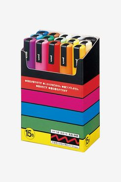 Uni-Posca Paint Marker Pen - Medium Point - Set of 15