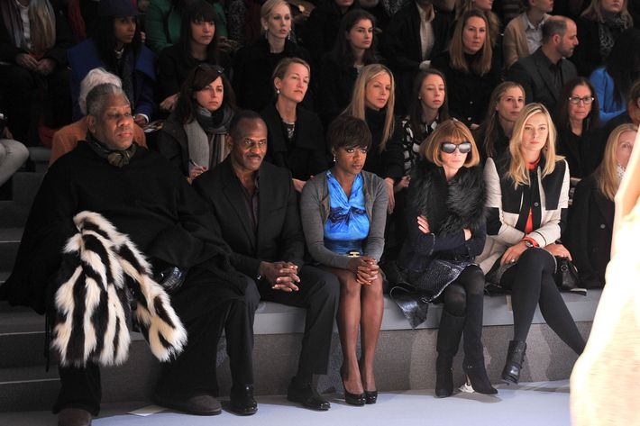 From left: Andre Leon Talley, Julius Tennon, Viola Davis, and Anna Wintour.