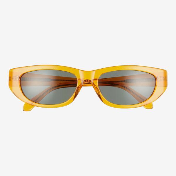 Karen Walker 56mm Oval Cat's-Eye Sunglasses